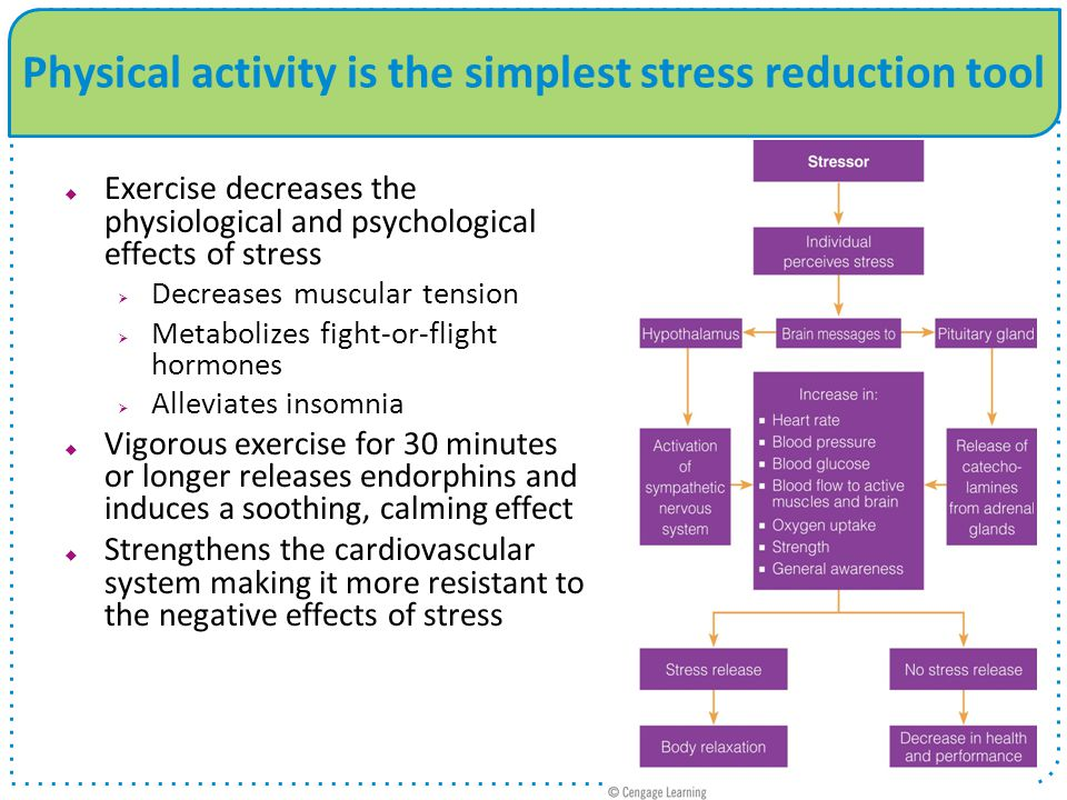 Physical activity is the simplest stress reduction tool
