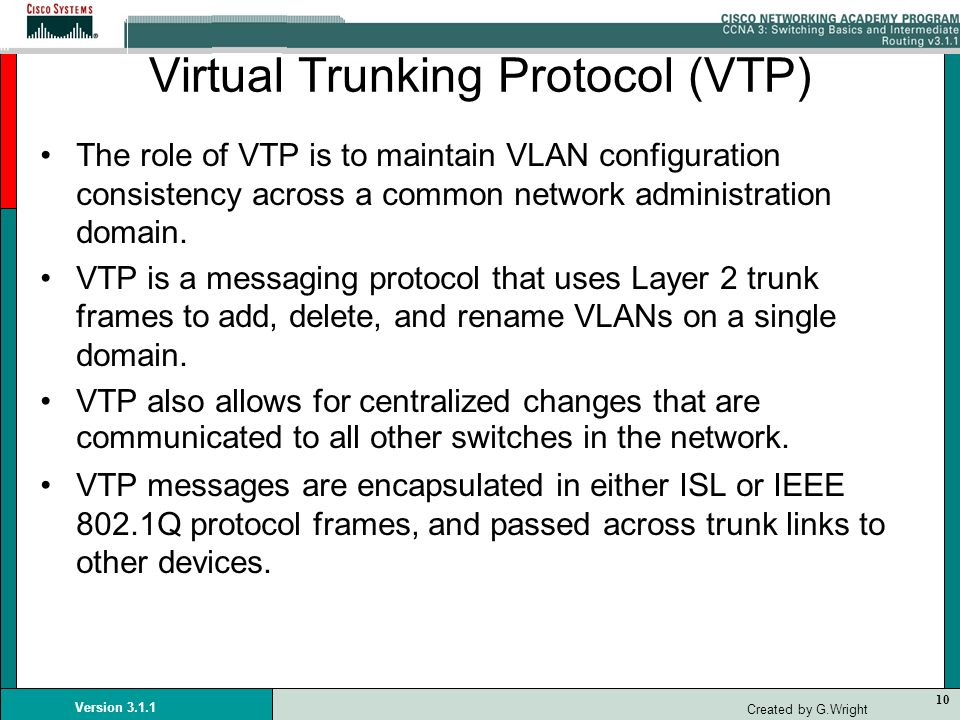Virtual Trunking Protocol (VTP)