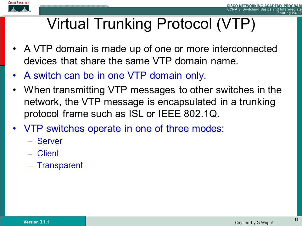 Virtual Trunking Protocol (VTP)
