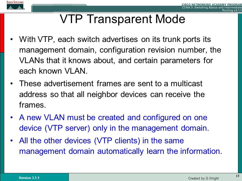 VTP Transparent Mode