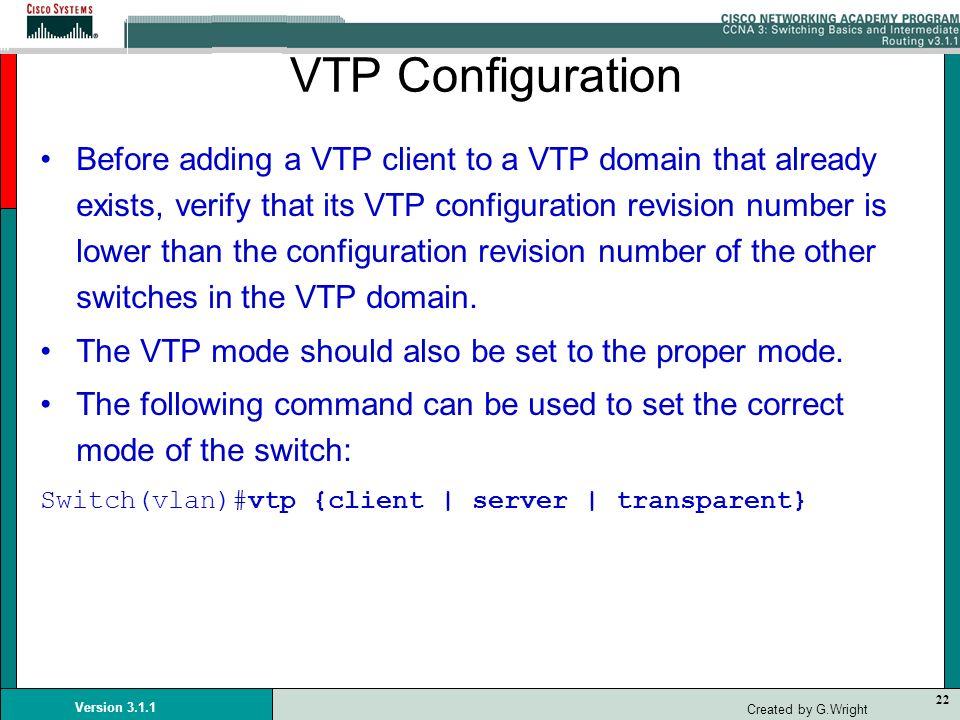 VTP Configuration