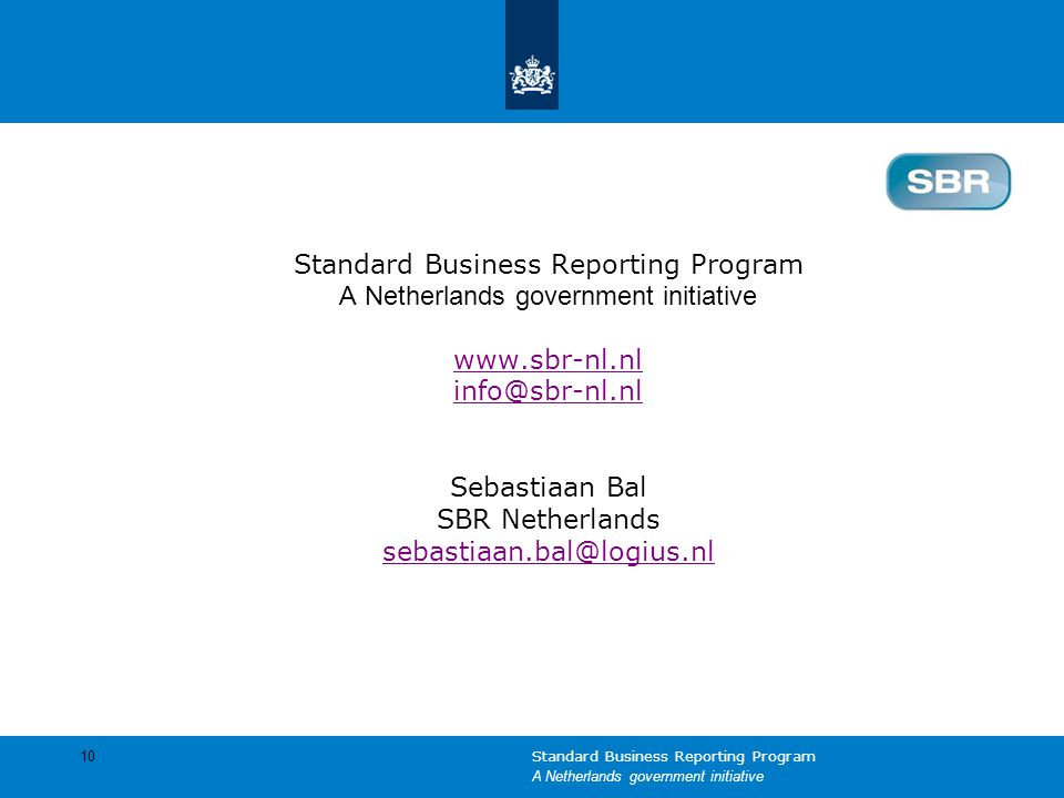 Standard Business Reporting Program