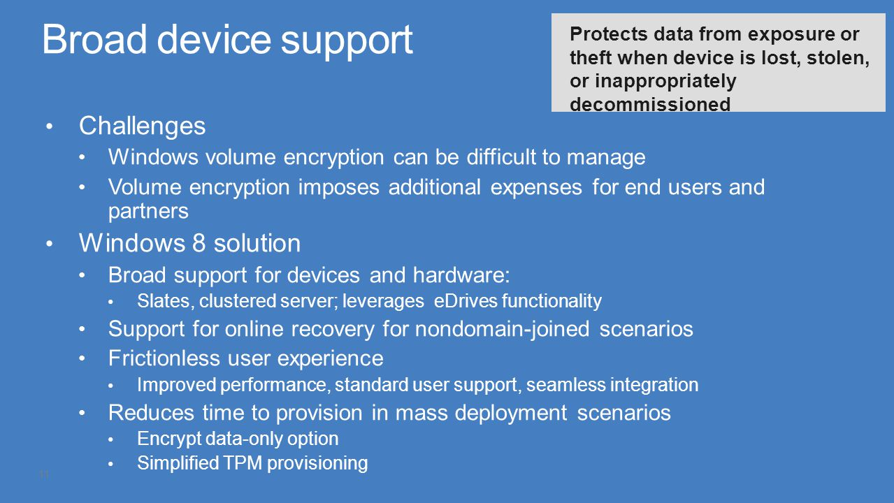 Broad device support Challenges Windows 8 solution