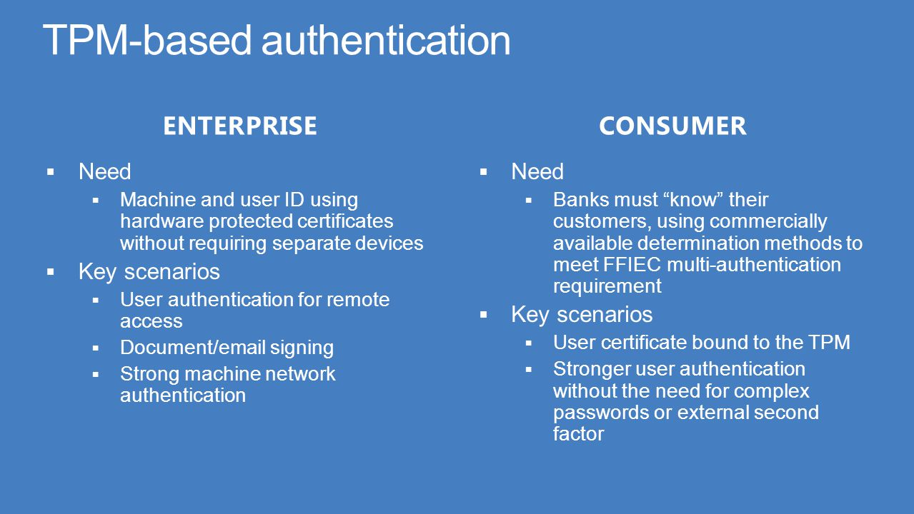TPM-based authentication