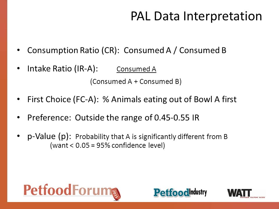 PAL Data Interpretation