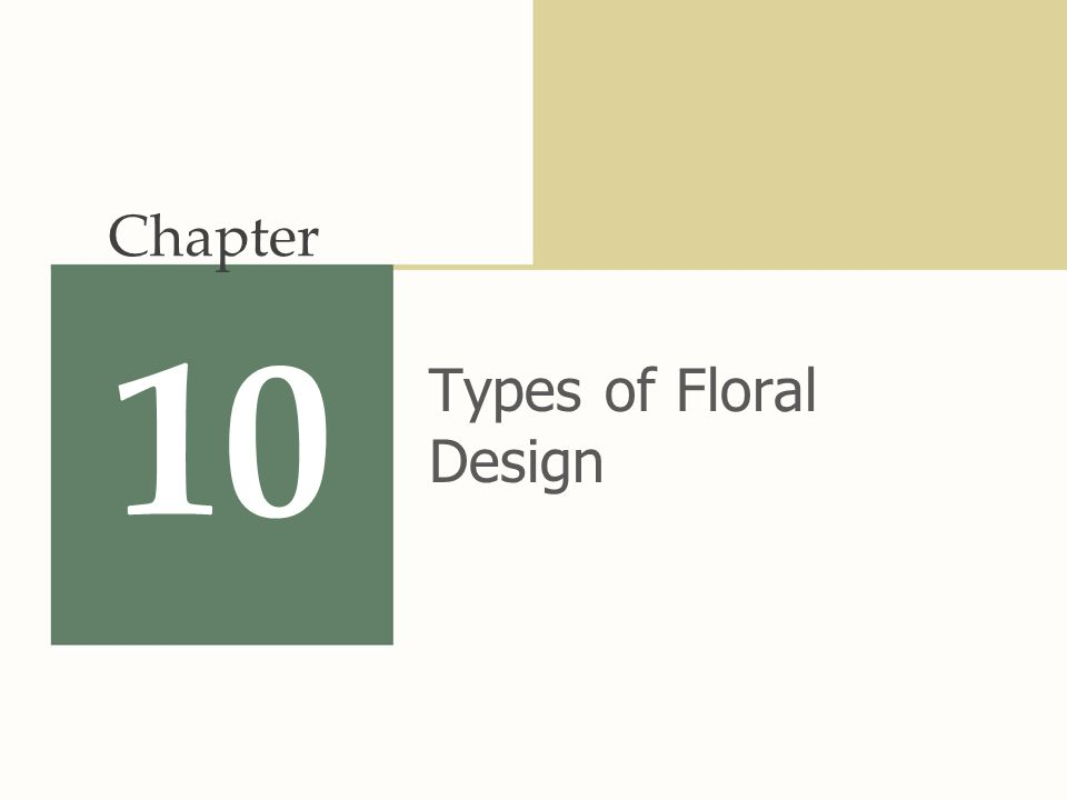 10 Types of Floral Design