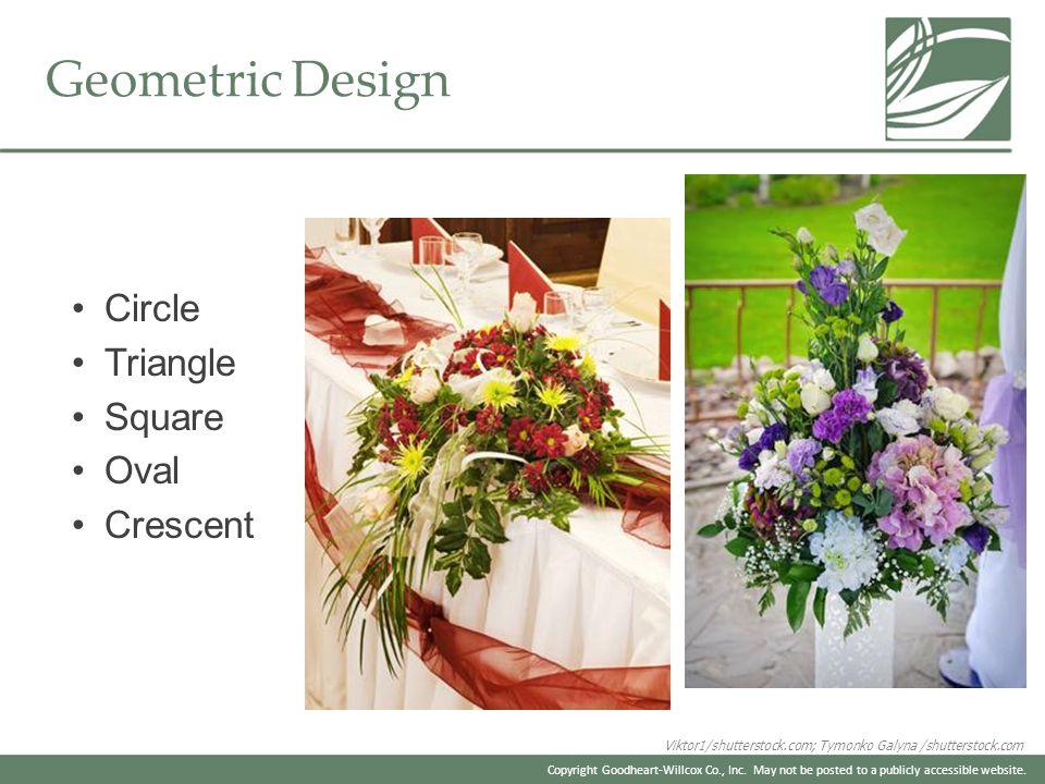 Geometric Design Circle Triangle Square Oval Crescent