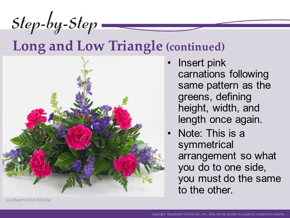 Long and Low Triangle (continued)