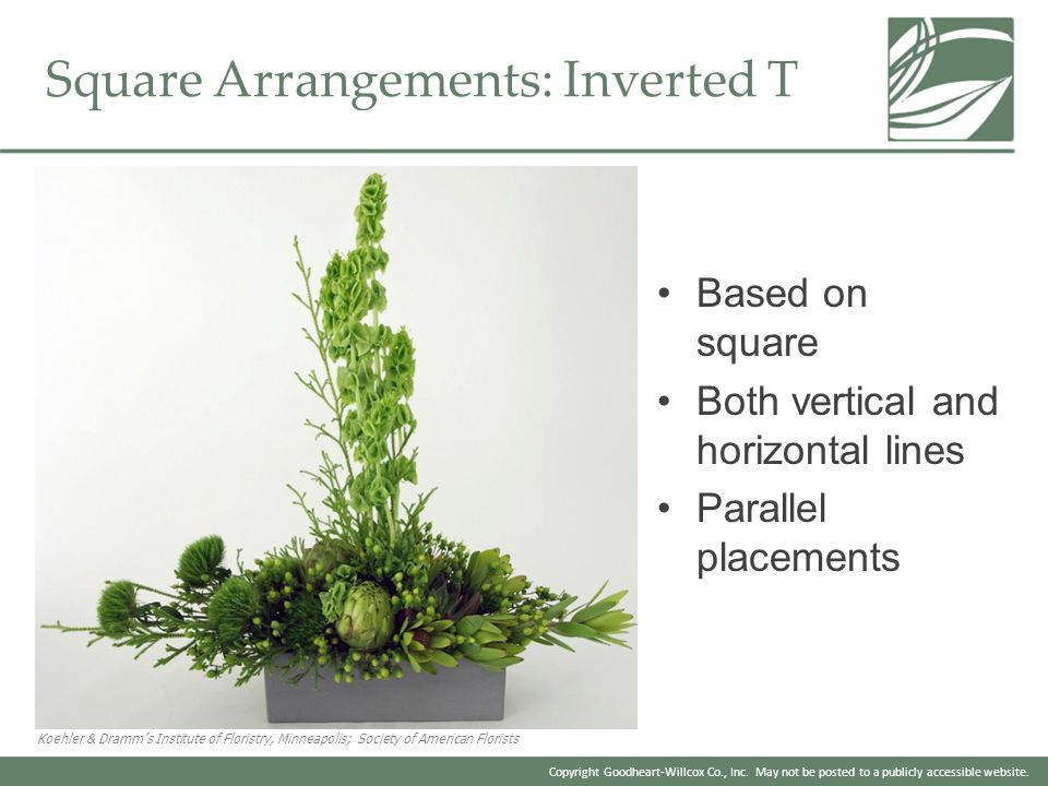 Square Arrangements: Inverted T