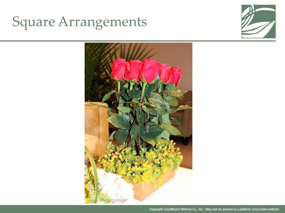Square Arrangements Roses & Hypericum/SAF
