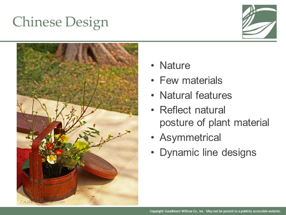 Chinese Design Nature Few materials Natural features