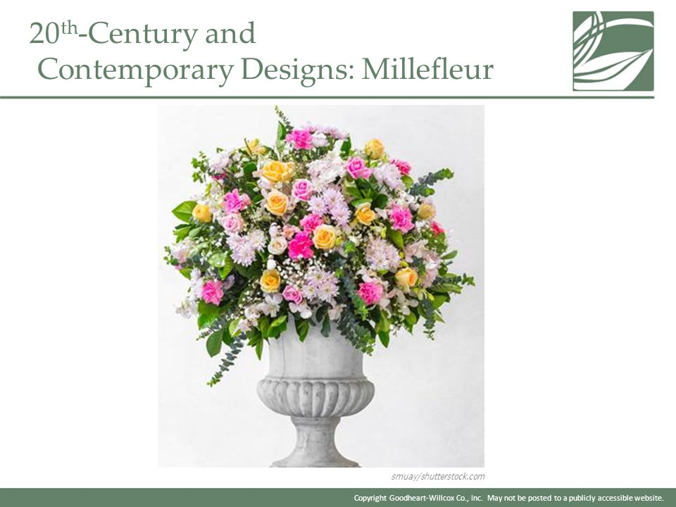 20th-Century and Contemporary Designs: Millefleur