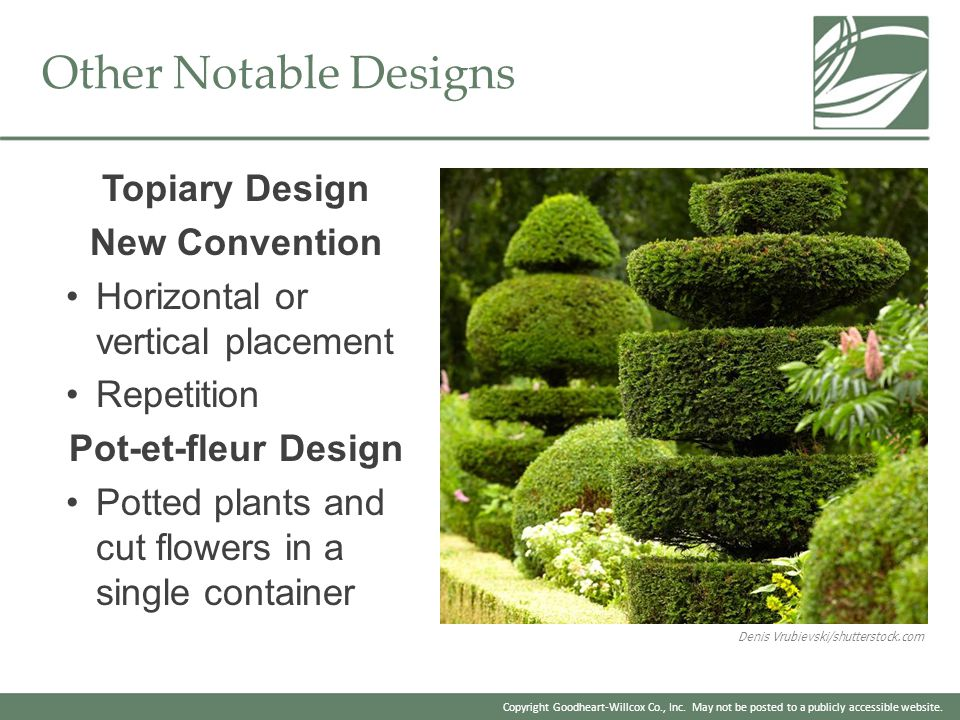 Other Notable Designs Topiary Design New Convention