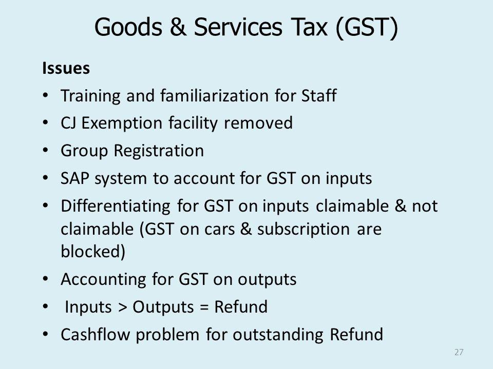 Goods & Services Tax (GST)