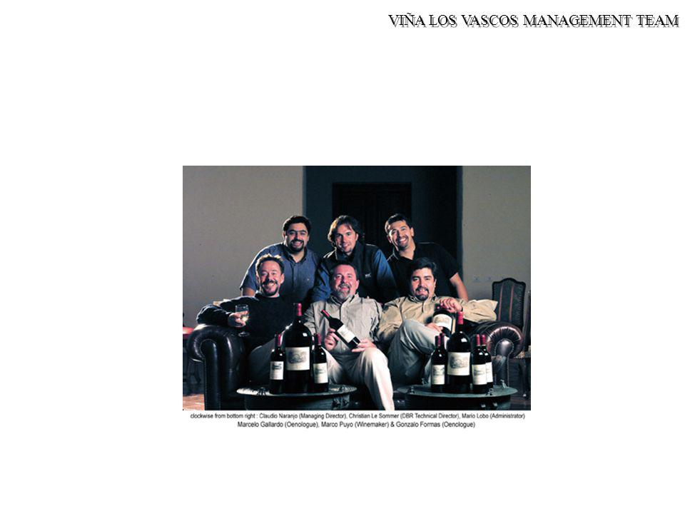VIÑA LOS VASCOS MANAGEMENT TEAM