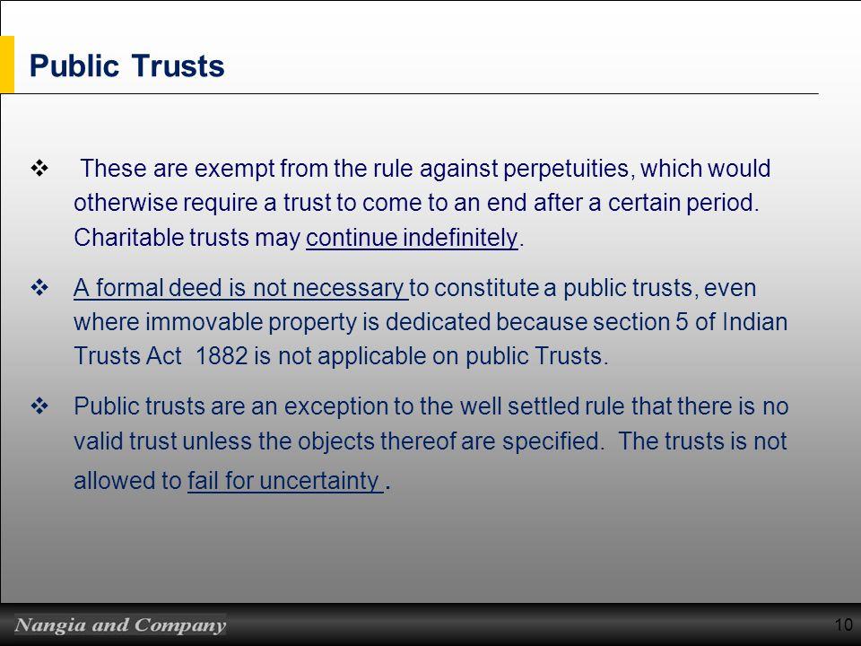Public Trusts
