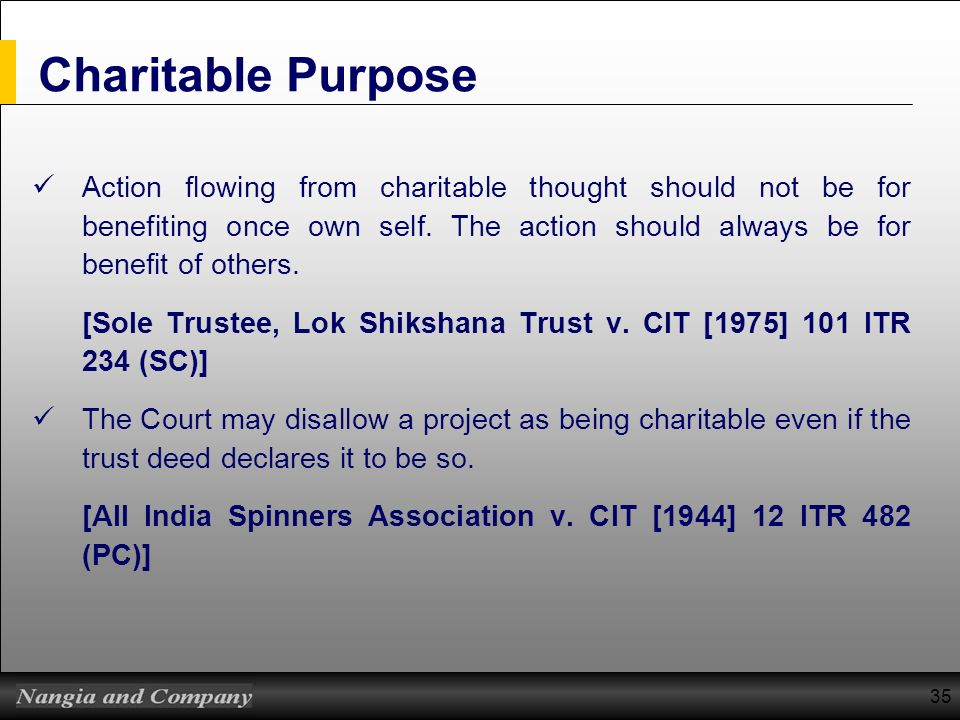 Charitable Purpose