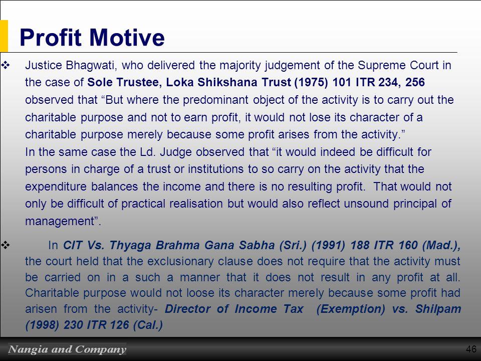 Profit Motive