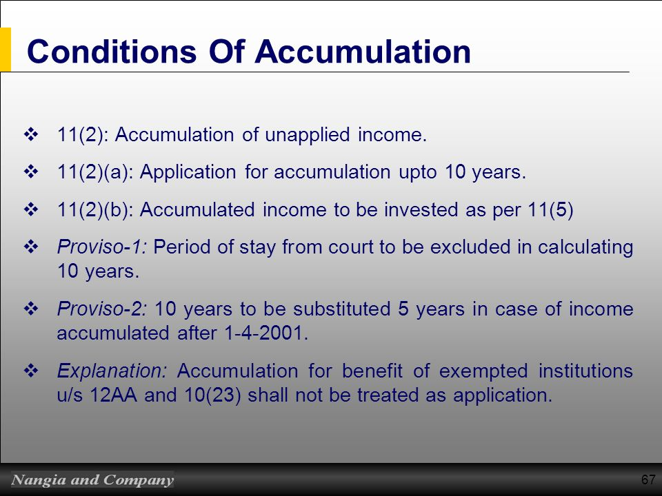 Conditions Of Accumulation