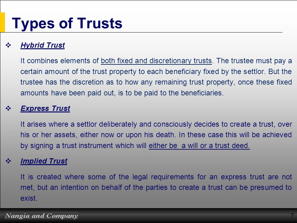 Types of Trusts Hybrid Trust
