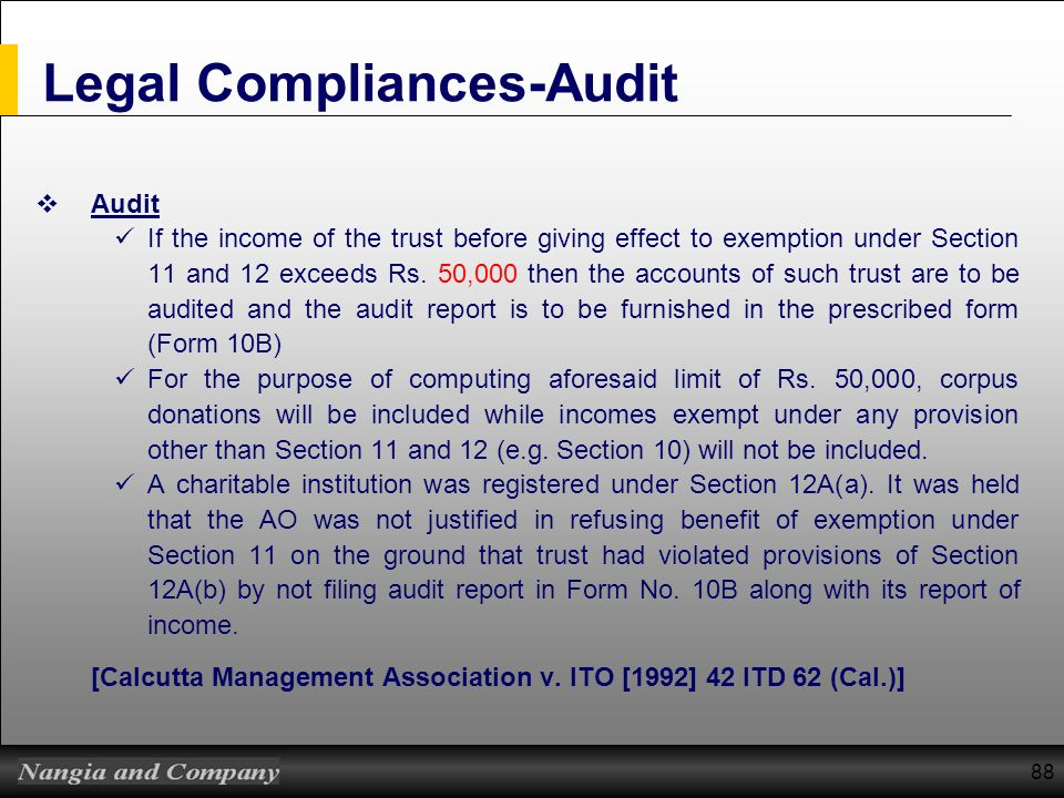 Legal Compliances-Audit