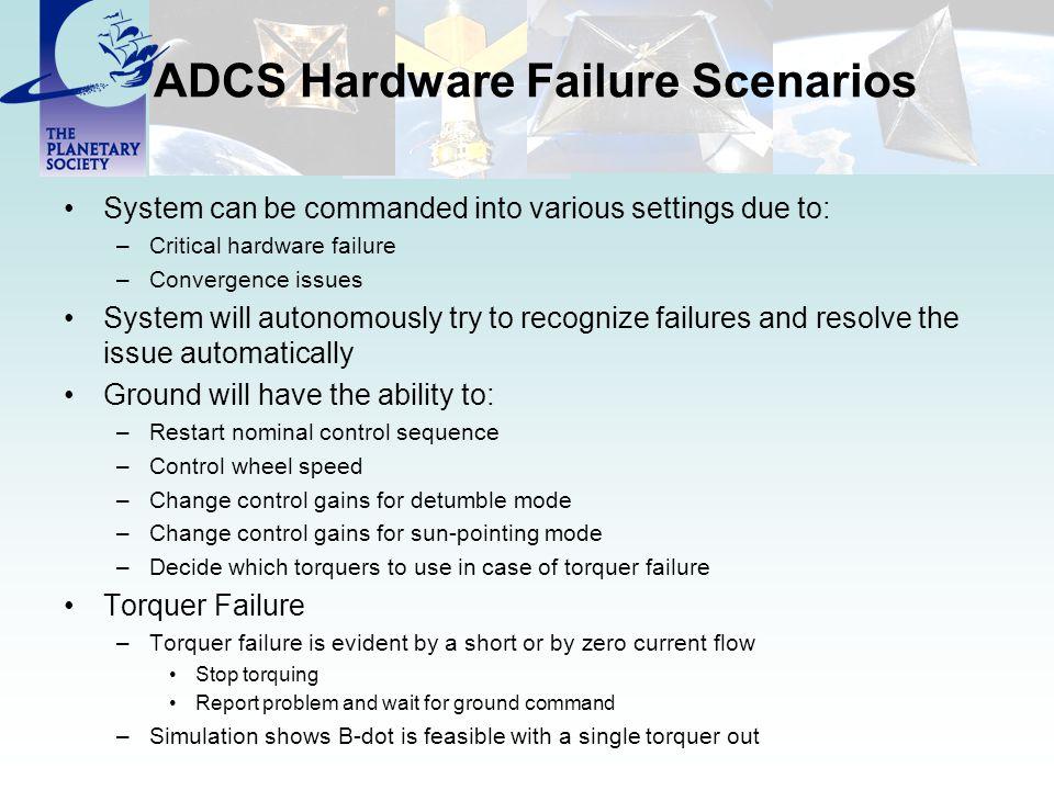 ADCS Hardware Failure Scenarios