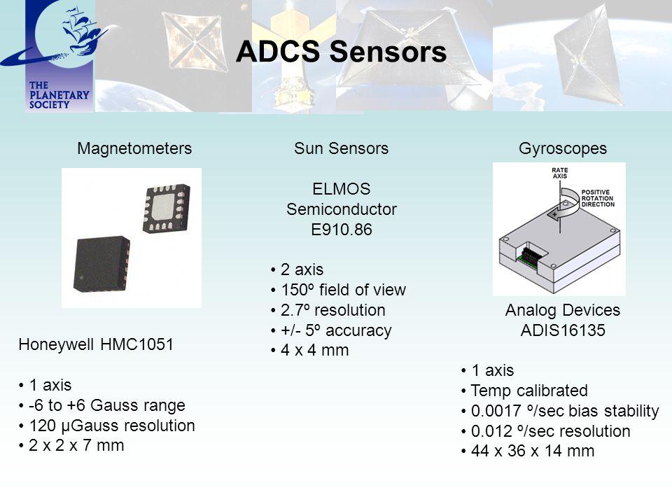 ADCS Sensors Magnetometers Sun Sensors ELMOS Semiconductor E910.86