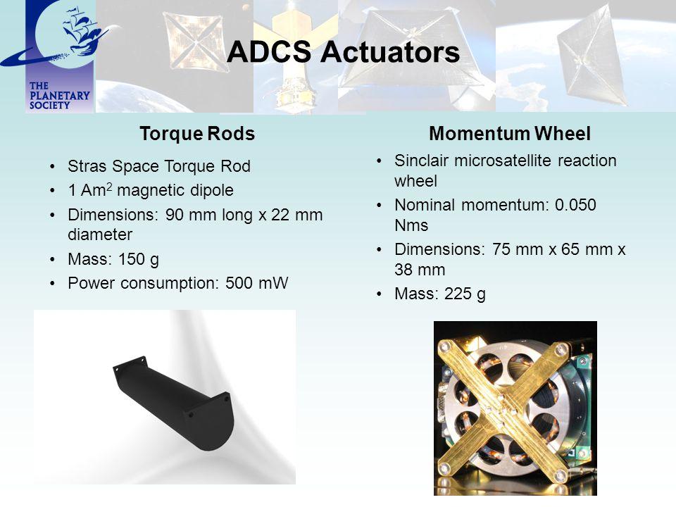 ADCS Actuators Torque Rods Momentum Wheel