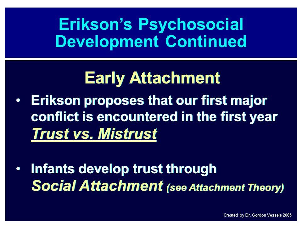 Erikson's Psychosocial Development Continued