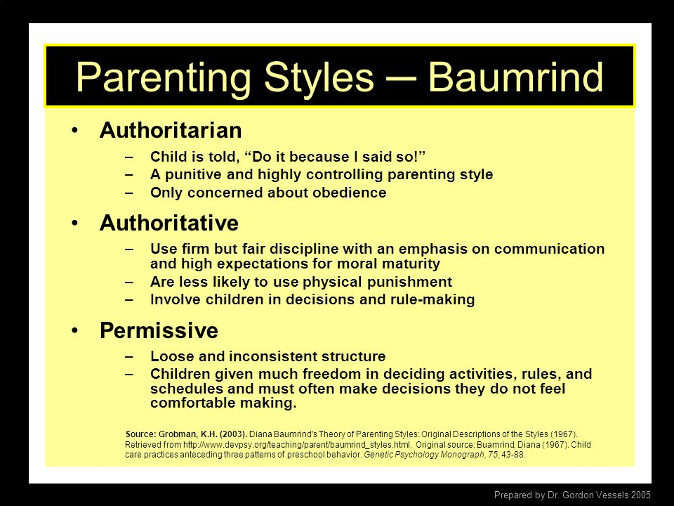 Parenting Styles ─ Baumrind