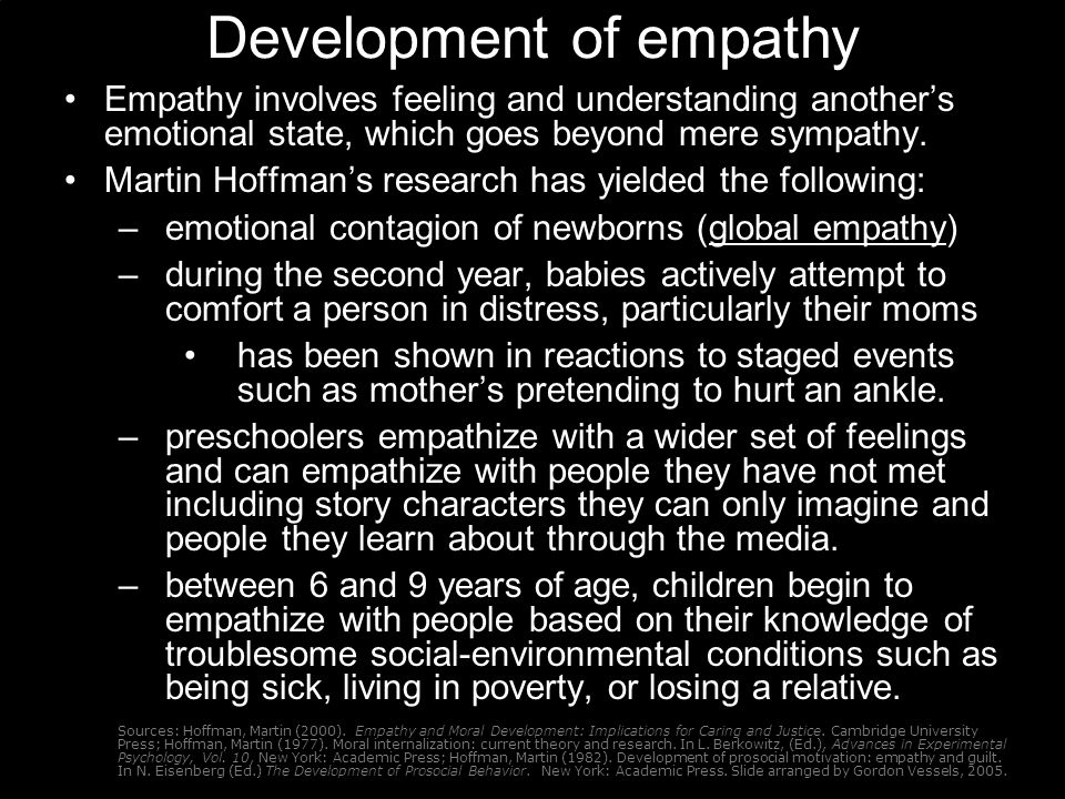 Development of empathy