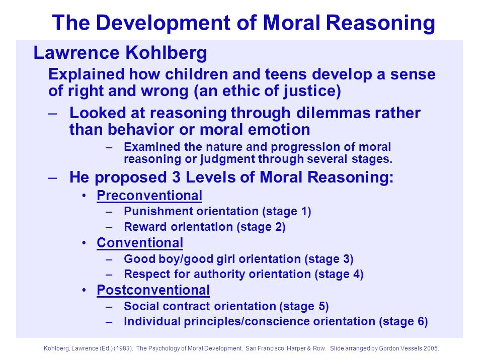 The Development of Moral Reasoning