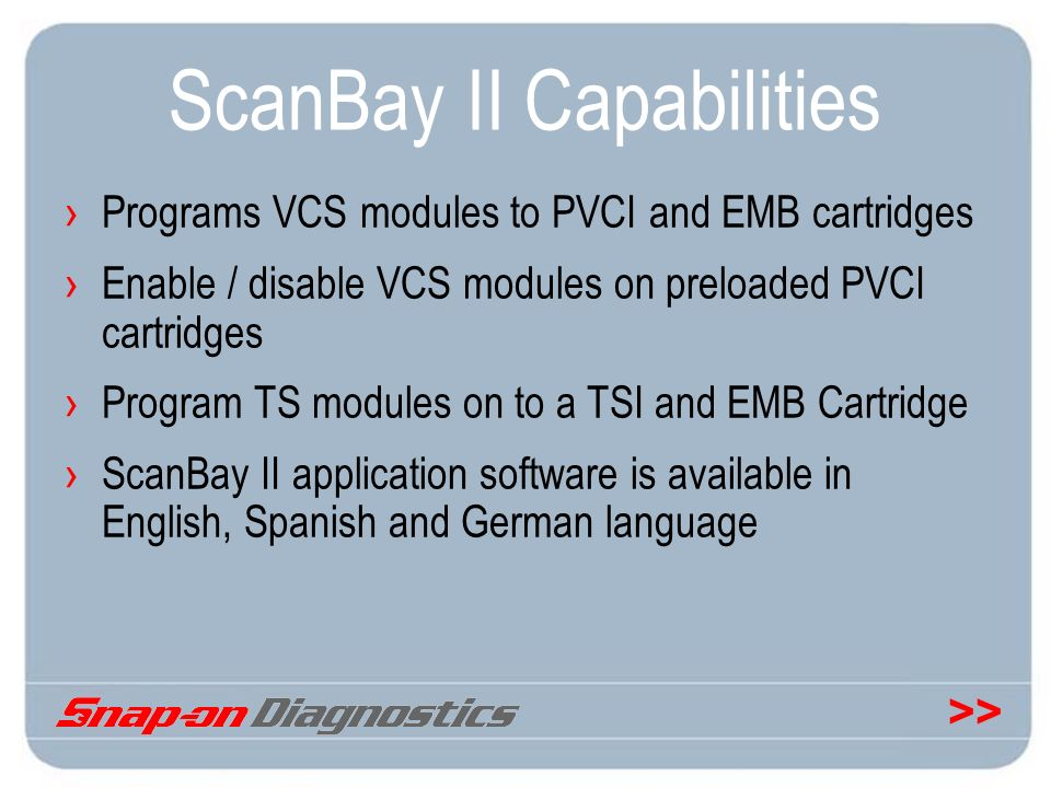 ScanBay II Capabilities