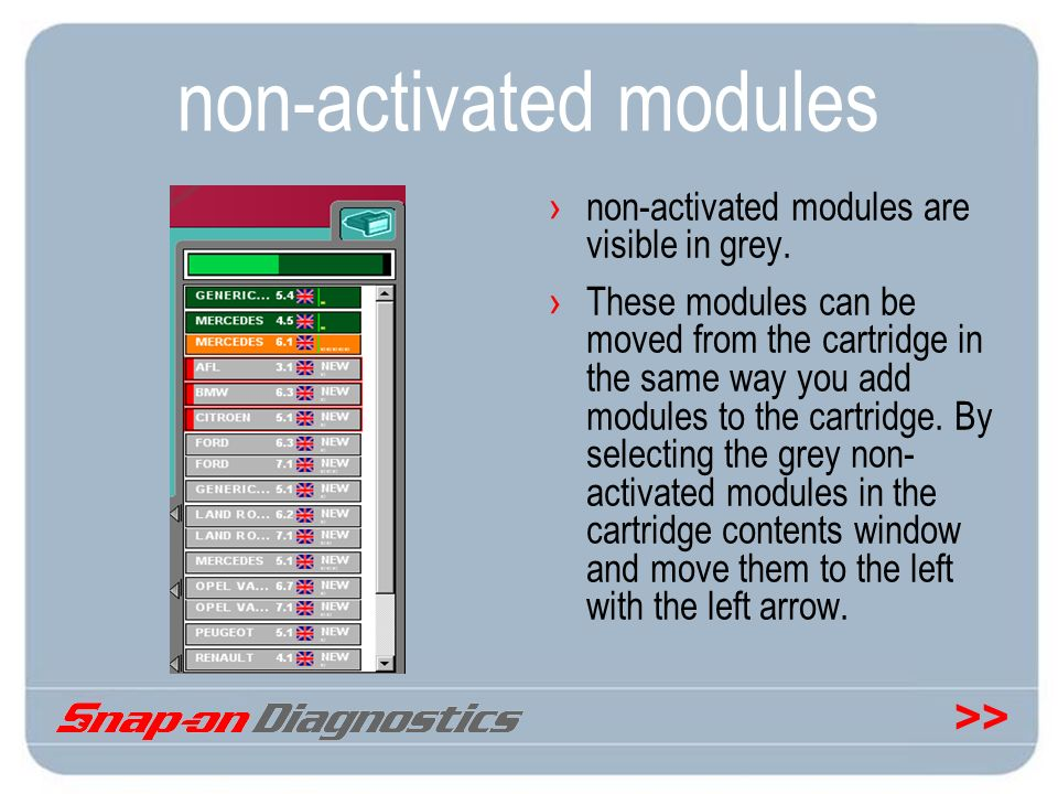 non-activated modules