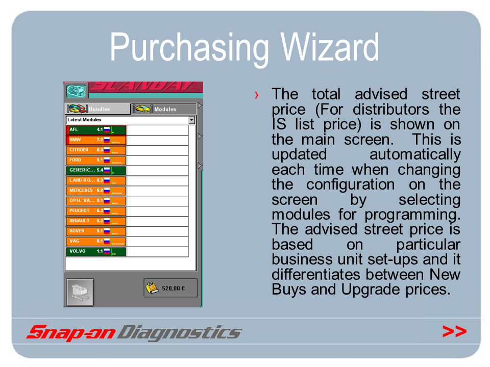 Purchasing Wizard