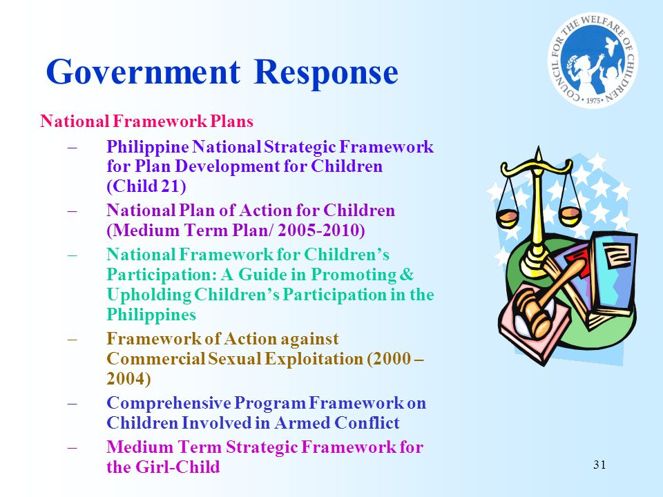 Government Response National Framework Plans