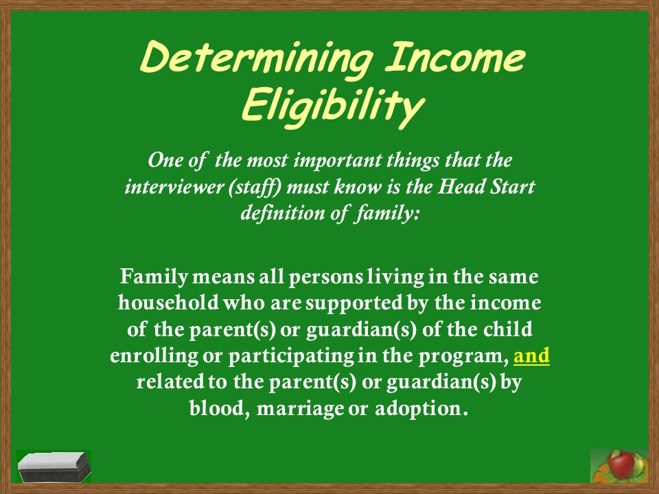 Determining Income Eligibility