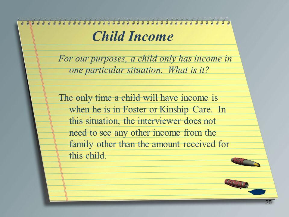 Child Income