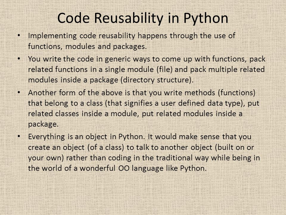 Code Reusability in Python