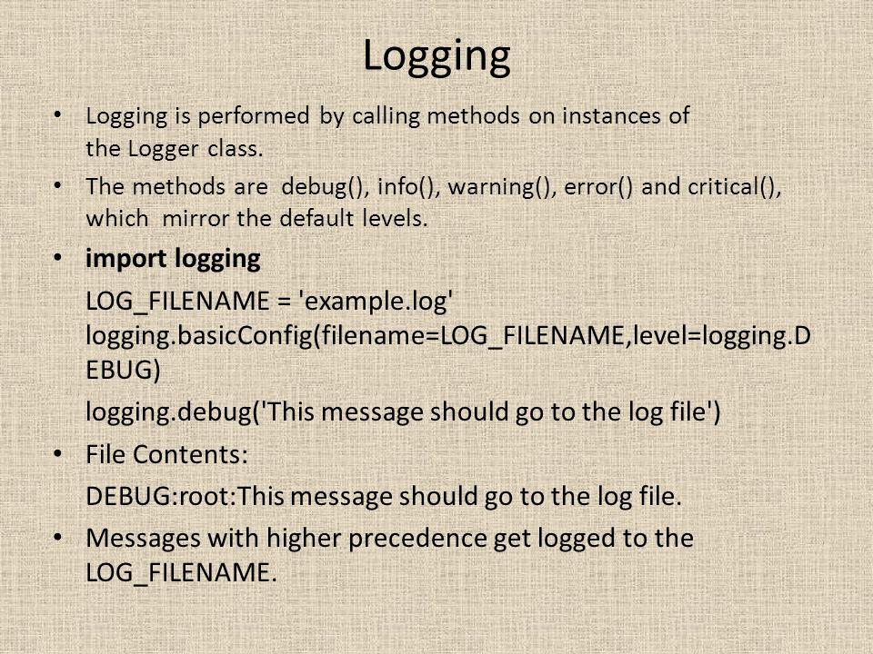 Logging import logging