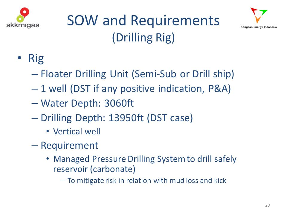 SOW and Requirements (Drilling Rig)