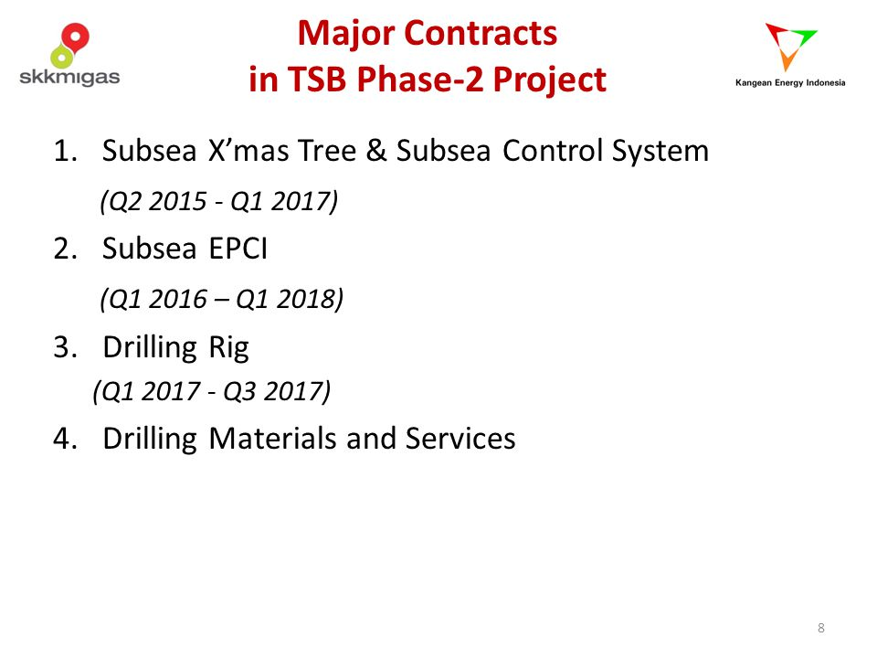 Major Contracts in TSB Phase-2 Project