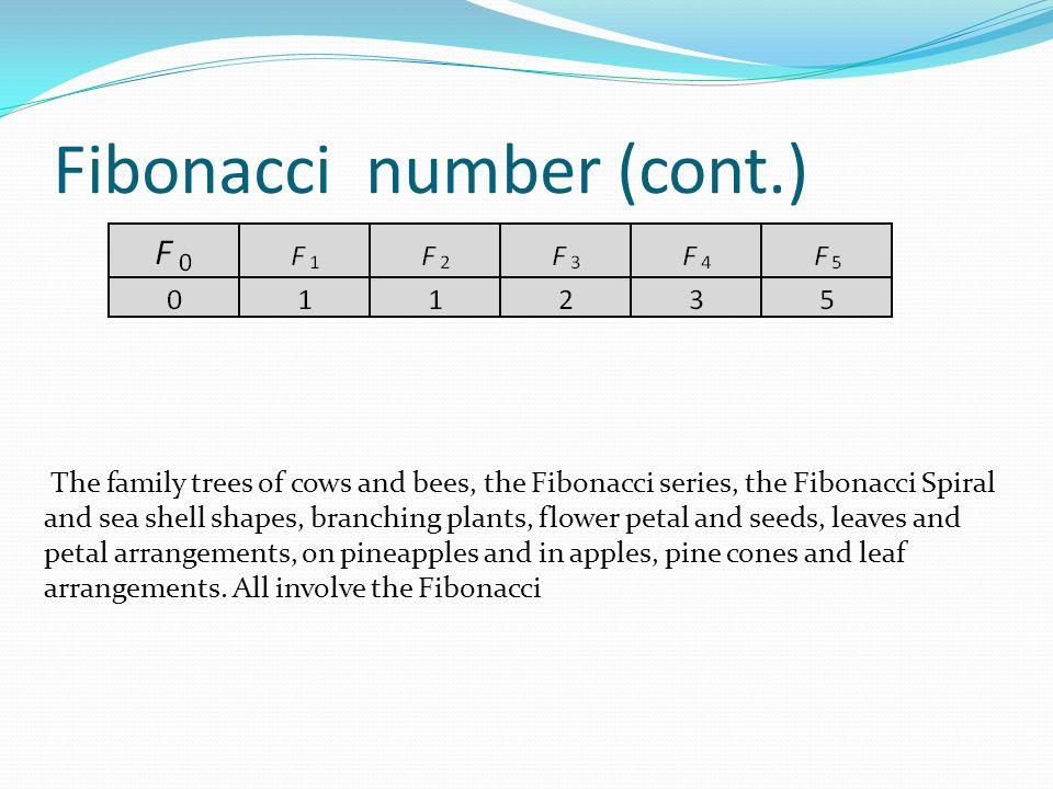 Fibonacci number (cont.)