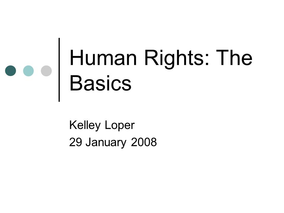 Human Rights: The Basics