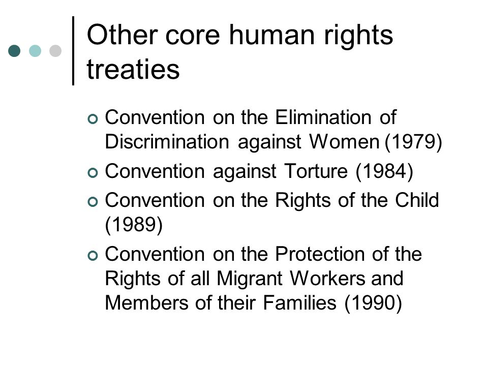 Other core human rights treaties
