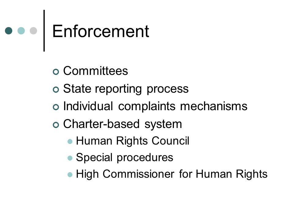 Enforcement Committees State reporting process