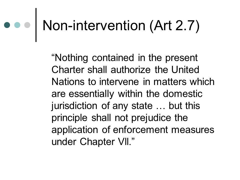 Non-intervention (Art 2.7)