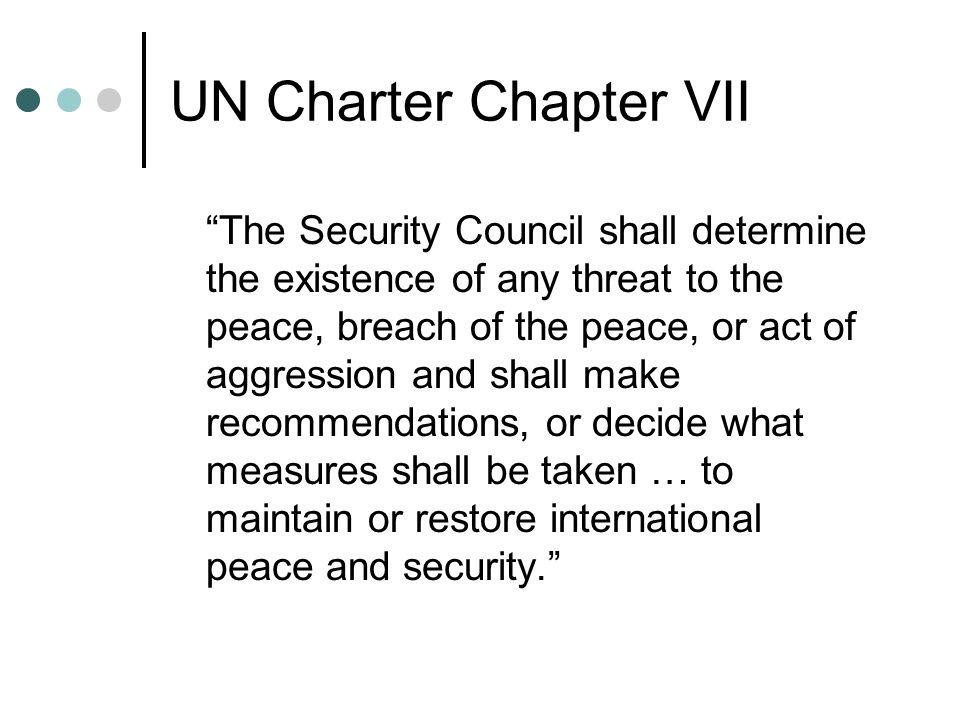 UN Charter Chapter VII