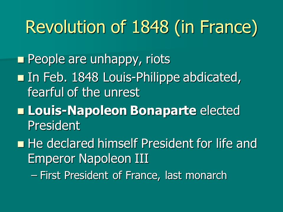 Revolution of 1848 (in France)