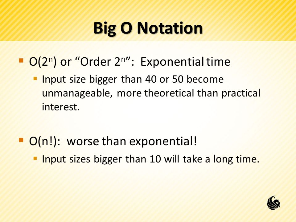 Big O Notation O(2n) or Order 2n : Exponential time